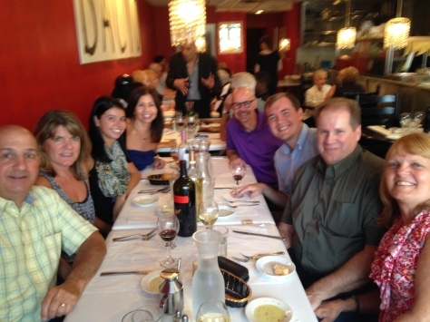 Dinner at Bacio with Shannon's parents, Chris' dad and girlfriend Barbara, and Chris' Aunt Nancy and Uncle Joe