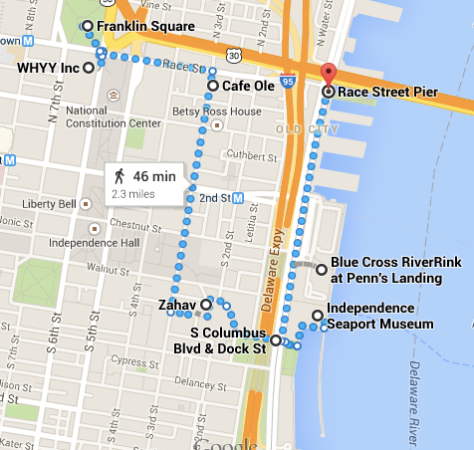 The route they took on the evening of their engagement